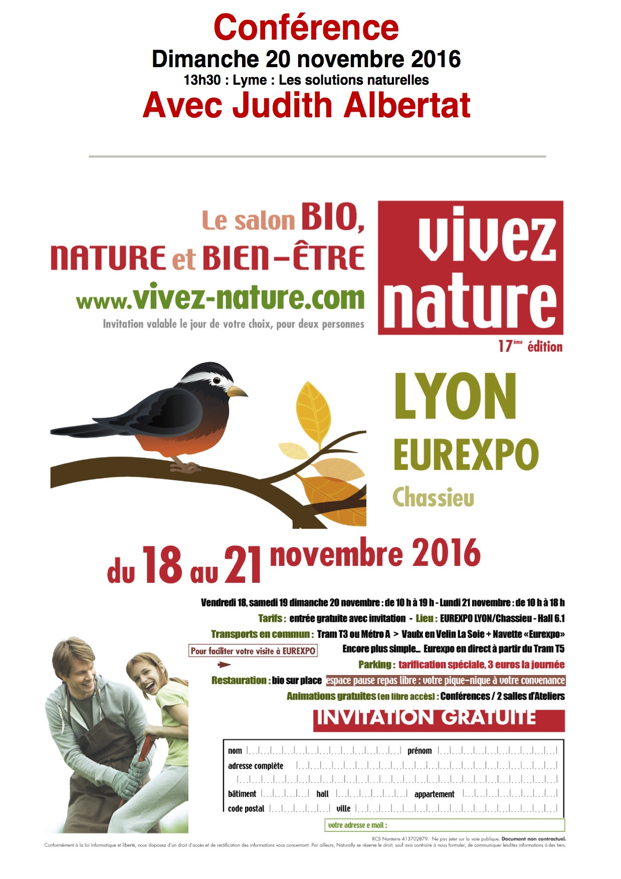 "Affiche du salon ""Vivez Nature"""